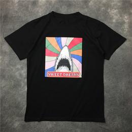 Argentina 2017 nueva marca de la etiqueta de la ropa de los hombres saint shark SWEET DREAMS imprimir camiseta de las mujeres camisa de algodón camiseta kanye west tee tops Color blanco rosa negro Suministro