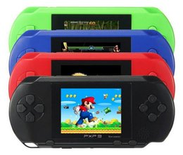 Wholesale Digital Consoles - Portable PXP3 PXP 3 16 bit 2.7 inch Game Player Digital Pocket Video Game Console System TV Out Games Built-in Game Card
