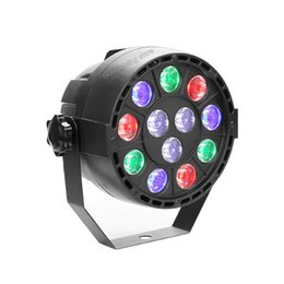 Wholesale Led Beads 12w - Hot 12 lamp beads 12W RGBW DMX Stage Lights High Power LED Flat Par Light with Professional for Party Disco DJ EU US
