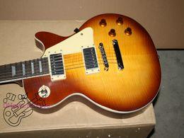 Wholesale Honey Burst Custom Guitar - Custom Electric Guitar Honey burst Flame Guitar Factory China guitar Free shipping