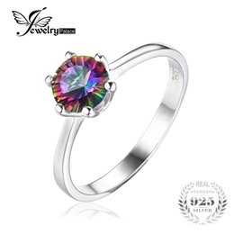 Wholesale Mystic Fire Topaz Rings - Natural Mystic Fire Rainbow Topaz Ring Engagement Wedding Ring Solid 925 Sterling Jewelry Fine Jewelry Women Ring 2016 Classic