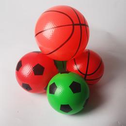 Wholesale Small Inflatable Balls - Arrival Rubber Balls Children's Inflatable Toys Baby Massage Ball Kids Games Mylar Ballon Shower small sport Basketball 16cm