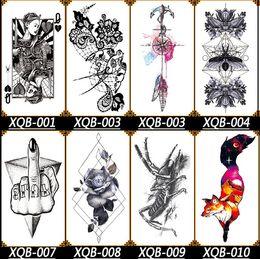 Flügel tattoo hand online-Hot Große Engel Flügel Tattoo Sleeve Körper Zurück Kunst Temporäre Tätowierung Aufkleber Wasserdichte Totem Skizze Drachen schwarz