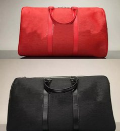 Wholesale red duffle bags - First LUXURY And Fashion Brand KEEPALL 45 DUFFLE BAG RED M53419 BANDOULIERE Man And Women Duffel Bags