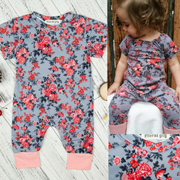 Wholesale Vintage Baby Boys Clothes - Baby Romper Autumn Winter Infant Vintage Floral Jumpsuit for Girls Clothing Kids Fashion Boutique Children Clothes