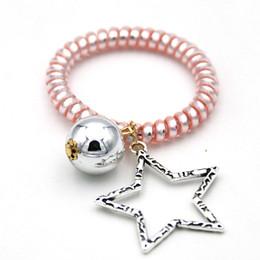Élastiques de couleur perle en Ligne-La star soulignant des bonbons en forme de perle Une ligne téléphonique colorée Une corde à cheveux Des liens élastiques Une bande élastique de printemps Une accessoir