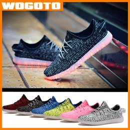 Wholesale Party Dots Led Lights - Top LED Shoes light colorful Flashing Shoes with USB Charge Unisex Fluorescent Couple Shoes For Party and Sport Casual DHL Free