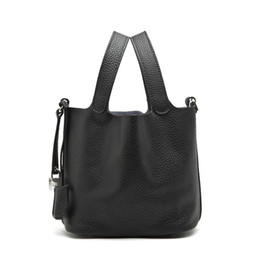 Wholesale Genuine Leather Handbags China - Wholesale china bag tote bucket shape leather handbags ladies ladies leather bag leather bag leather bag tote