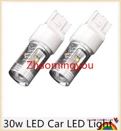 Wholesale P21w Error Free - 10 Pieces Lot 30w White Canbus Error Free Cree P21W BA15S 1156 LED Car Turn Signal Stop Light Bulb