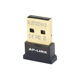 pontos de áudio Desconto AP-LINK USB Bluetooth Dongle Adapter 4.0 computador fone de ouvido Áudio Transmissor Receptor Suporte WIN10 livre no disco