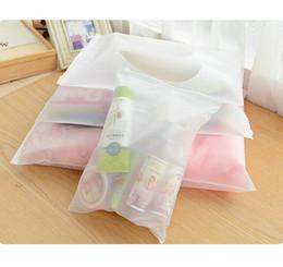 Wholesale transparent clothes lingerie - Wholesale- Portable Travel Set Cosmetics Clothes Lingerie Bag Transparent Plastic Storage Bag Self Sealed Zipper
