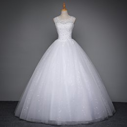 Wholesale Korean Simple Long Dresses - mdn-3 Korean Lace Up Ball Gown Quality Wedding Dresses 2017 Alibaba Customized Plus Size Bridal Dress Real Photo bridal gowns