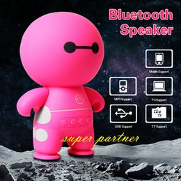 Wholesale Mini Kids Cell Phone - A9 Mini Wireless Bluetooth Speaker BayMax Subwoofer TF Card USB Aux input Music Player For Kids adult Cartoon Figure Speaker for Cell Phone