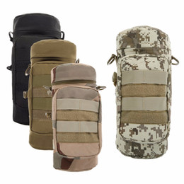 Wholesale Canvas Water Bottle - Waterproof Camouflage Water Bottle Pouch Military Bottle Bag Molle Water Zipper Bottle Pouch Outdoor Bottle Bag For Hiking