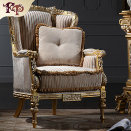 Wholesale Wood Furniture Sofa Chair - Italian living room furniture-classic wood furniture-royal furniture french style furniture manufacturer- one person sofa Free shipping