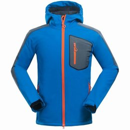 Wholesale Winter Hunting Coats - 2016 New Winter Fleece Jackets Mans Windbreaker SoftShell Jackets Outdoor Mens Hunting Down Jacket High Quality Clothes Bomber Coats Blue
