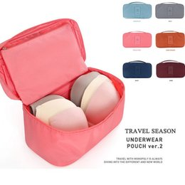 Wholesale Bras Travel Box - Underwear Storage Bags Bras Bags Panties Socks Storage Case Waterproof Travel Portable Storage Box & Bra Case Free Shipping