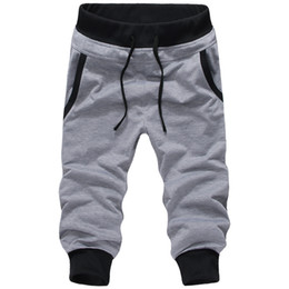 Wholesale Harem Pants Dark Red - Wholesale-mens jogger New Casual Sports pant loose male trousers Harem sweatpants 5 Colors M-XXXL pantalon homme outdoor cargo pants