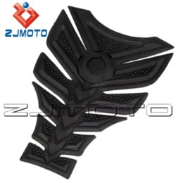 Wholesale Kawasaki Decals Black - ZJMOTO 3D Rubber sticker Motorcycle sticker Fuel Gas Tank Pad Protector Tank decals sticker For all KAWASAKI Z750 Honda CBR400