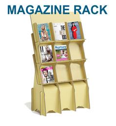 Wholesale Paper Shelf - Corrugated paper Magazine Rack Newspaper and periodica racks Book Magazines Holder Stuffing Storage Organiser Rack Shelf Standing