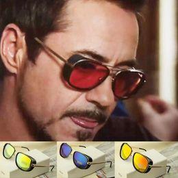 Wholesale Vintage Branding Irons - Steampunk-IRON MAN 3 Matsuda Steampunk Sunglasses Men Vintage Brand Designer Vintage Sun glasses Women Sunglasses Oculos Ray Tony Cheap