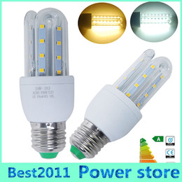 Wholesale E27 Led Corn Bulb Outdoor - Energy saving 5W E27 LED Corn Bulb Outdoor Lighting 24 SMD 2835 360 Degrees U Shape AC85-265V LED lamp Chandelier Candle Light