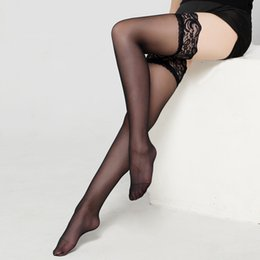 Wholesale Sexy Girls Tight Lingerie - 7 Colors Sexy Women Girl Lady Autumn Winter Sheer Lace Top Thigh High Over the Knee Socks Polyester Lingerie Tights Long Stockings
