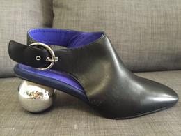Wholesale Thanksgiving Kitten - actual shoe! designer women fashion u049 genuine leather black slingback ball med heel shoes