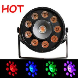 Led rgb par can online-HOT 9X10W + 1X30W RGB DMX LED Par Light, LED Slim Par puede para evento, Disco DJ KTV Party LED Par plano puede, Color completo