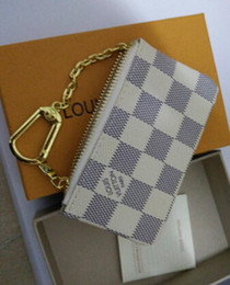Wholesale Opening Small Business - 2018 KEY POUCH Damier canvas holds high quality famous classical designer women key holder coin purse small leer