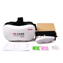 Wholesale Dhl Virtual Video Glasses - VR Case RK5th 5.0 Version Virtual Reality Glasses 3D Video Movies Games for 3.5-6 inch Smart Phone DHL 30pcs