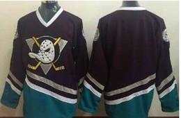 Wholesale Vintage Mighty Ducks Jersey - Anaheim Ducks Custom Stitched mens womens youth Orange White Third Mighty Ducks Purple Vintage White vintage ice cheap hockey Jerseys