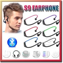 Argentina Auricular S9 Auriculares estéreo inalámbricos Deportes Bluetooth Altavoz Banda para el cuello Auricular Bluetooth 4.0 con paquete al por menor 20 piezas UP DHL Suministro