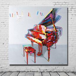 Dibujo a mano imágenes de dibujos animados modernos abstractos pintura al óleo del piano bodegón imágenes para la sala de estar moderna decoración de la pared desde fabricantes