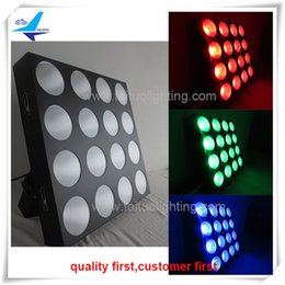 Wholesale Dot Matrix Led Rgb - (2 lot) China dj equipment dj dot matrix 16x30w cob rgb led wash blinder effect