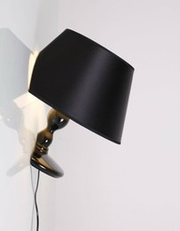 Wholesale Nordic Fabric - Fashion Creative Wall Lamp Resin Black White Wall Light Nordic Bedroom Living Room Wall Sconce