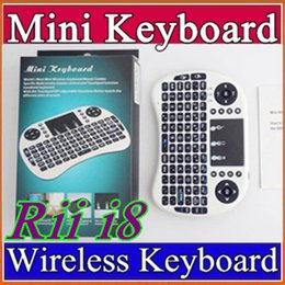 Wholesale Tv Wifi Keyboard - 10X Rii i8 Remote Mouse Keyboard Combo Wireless 2.4GHz Touchpad Keypad For U1 16 S905 MXQ PRO M8S WIFI Bluetooth Android TV BOX B-FS