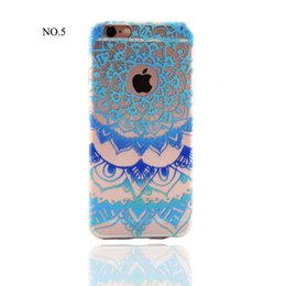 Wholesale Blue Henna - 2016 Newest Colorful Henna 3D Relief Painting TPU Cover Case for iPhone 5S SE 6 6S  6S Plus 7 7plus