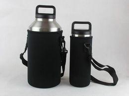 Wholesale Wholesale Black Jackets - 10pcs YETI cups protective jacket neoprene protective sleeve protective casing for 18OZ 36OZ 64OZ YETI rambler YETI cups free shipping