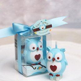 Wholesale Candle Favors For Baby Shower - Ideal Owl Candle Smokeless Gifts Baby Shower Favors Birthday Wedding Party Gift For Guests Home Decoration ZA1224