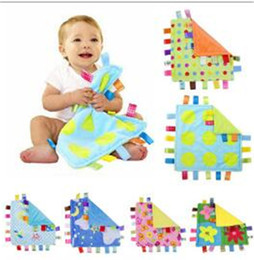 Wholesale Comfort Blankets - HOT Comforting taggies Blanket Appease Towel Baby Calm Wipes Infant Kids Infant Towel Blanket Cute Soft Square Doll Plush Toys TO335