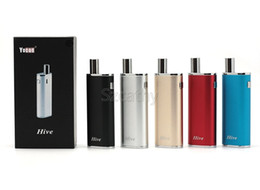 Wholesale Glasses Authentic - Authentic Yocan Hive 2 in 1 Kit E Cigarettes Vaporizer Kits With 2 Atomizers For Wax & Oil 650mAh Box Mod