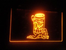 Wholesale Duff Neon - b-59 Duff Simpsons Beer Bar Display LED Neon Light Sign Cheap sign open High Quality sign industries