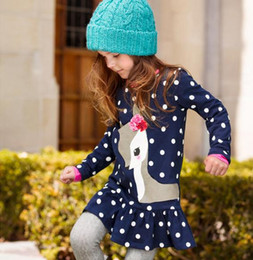 Wholesale Christmas Blouses - 2016 Kids Girls Cotton Long-Sleeve winter Shirt Children's Navy Polka Dot Blouse Hoodies Sweatshirt Dresses Kid Girl Clothes Jumper Blouse
