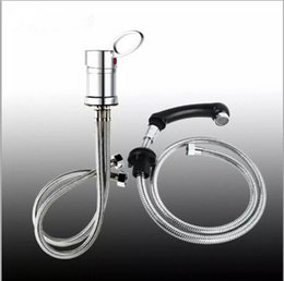 Wholesale Tap Nozzles - Hair Basin Beauty Salon Shampoo Chair Accessory Cold and Hot Mixed Water Tap Stainless Steel Hose Water Saving Nozzle