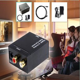 Wholesale Digital Toslink Rca - Coaxial Spdif or Toslink Optical Digital to Analog L R RCA Audio Converter Adapter Support 5.1 Channel Stereo Dolby AC3 DTS