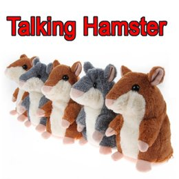 Wholesale Talking Cat Toy Kids - New Hot Talking Hamster Plush Toy Hot Cute Speak Talking Sound Record Hamster Talking Toys for Children Kids Christmas Gift