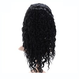 Wholesale Black Women Hair Products - 7A Glueless Full Lace Human Hair Wigs For Black Women Malaysian Hair Kinky Curly Lace Front Wig 8-26 inch Bond Hair Products