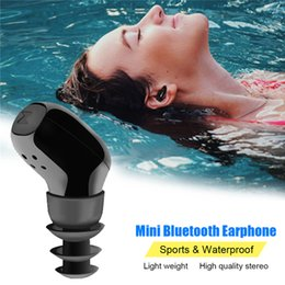 Wholesale Wireless Waterproof Headphones For Iphone - Mini Bluetooth Headphones Earphones Wireless Earbuds V4.1 EDR Waterproof Sports Bluetooth Headset For iPhone Samsung