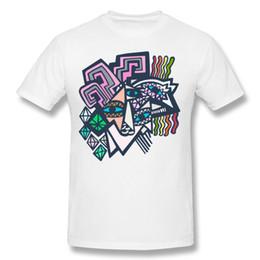 Canada Peinture abstraite mans pur coton t-shirts chemises 2d art impression hommes été tops conception de col rond doux chevaux origami supplier abstract painting designs Offre